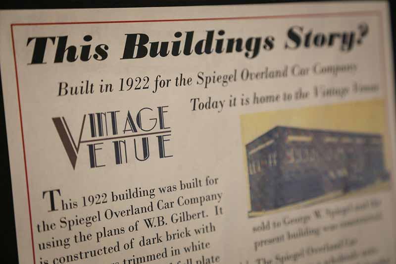 Vintage Venue – Story